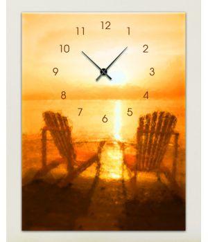 Часы-картина 1C-163-30x40-W