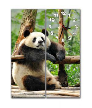 Модульные настенные часы Панда