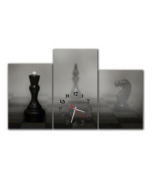 Модульные настенные часы Шахматы