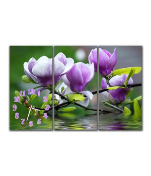 Модульные настенные часы Цветы на воде