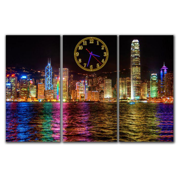 Модульний настінний годинник Річкова панорама