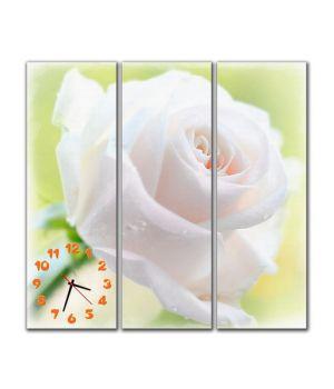 Модульные настенные часы Нежная роза