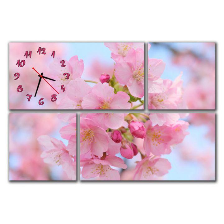 Модульний настінний годинник Весняний колір