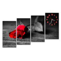 Модульные настенные часы Дыхание розы