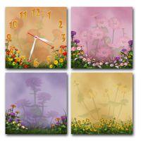 Модульные настенные часы Пленительные Цветы