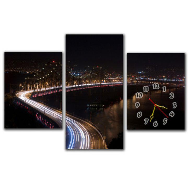 Модульний настінний годинник Міст