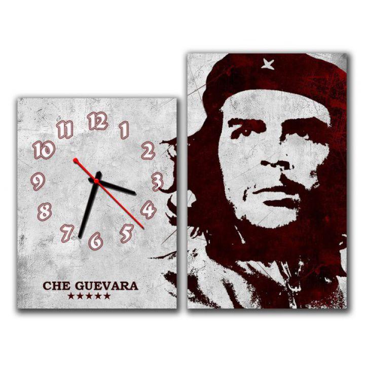 Модульные настенные часы Че Гевара