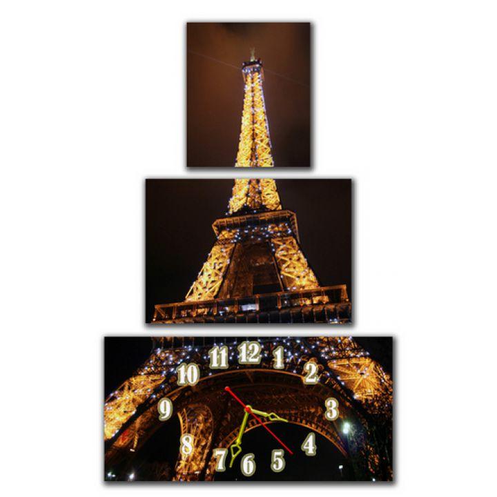 Модульний настінний годинник Ейфелева Вежа