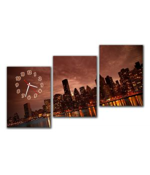 Модульные настенные часы Вечерний Город