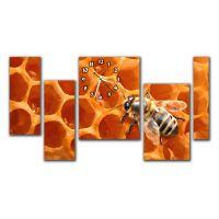 Модульные настенные часы Пчела