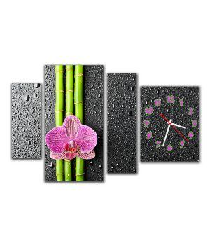 Модульные настенные часы Цветок
