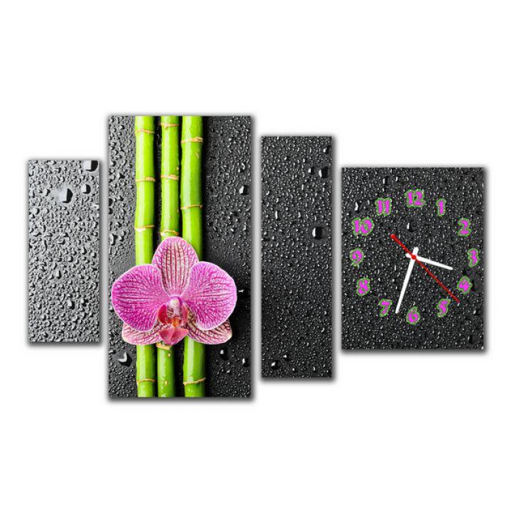 Модульний настінний годинник Квітка