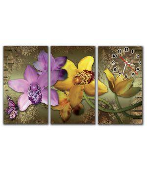 Модульные настенные часы Чудесные Цветы