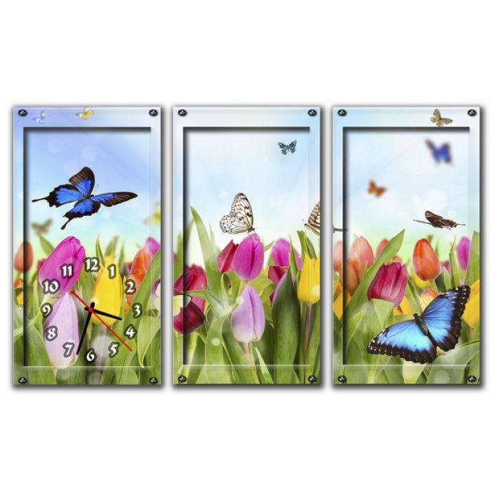 Модульные настенные часы Весна