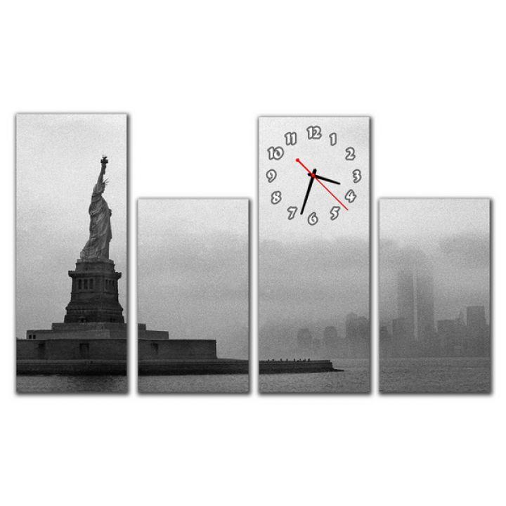 Модульные настенные часы Cтатуя Свободы
