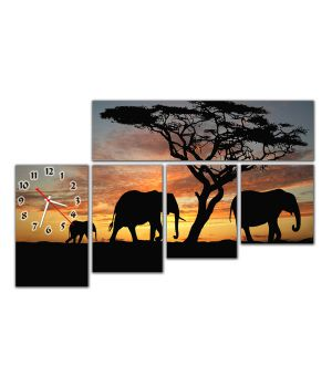 Модульний настінний годинник Африка