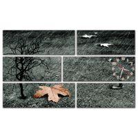 Модульные настенные часы Осень