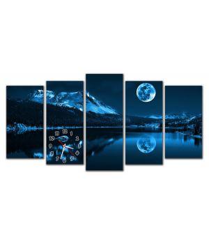Модульные настенные часы Альпы