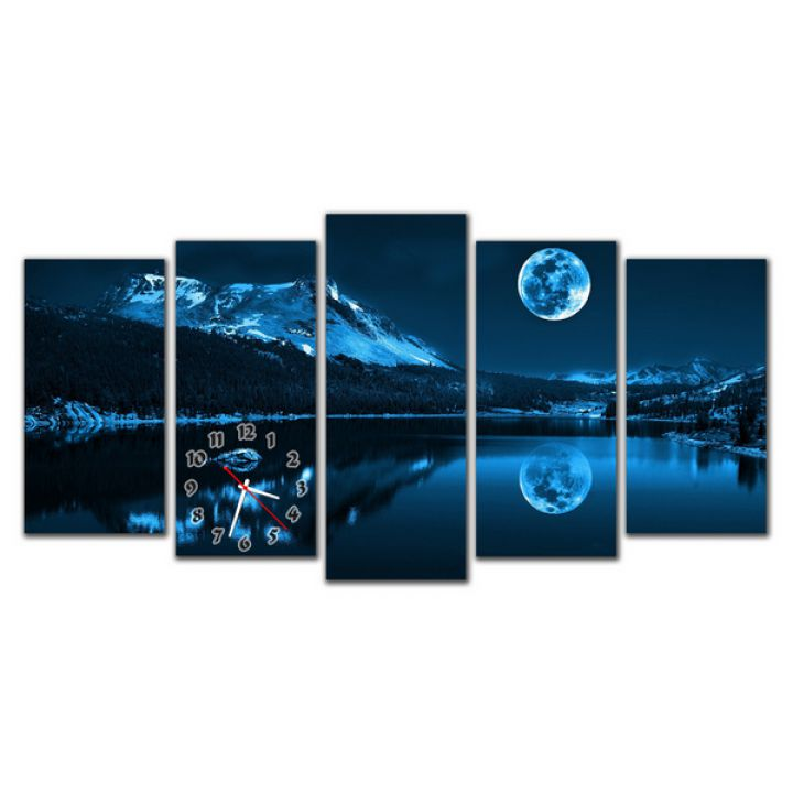 Модульний настінний годинник Альпи