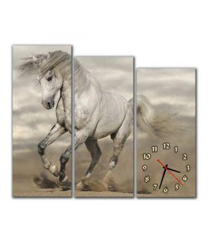 Модульний настінний годинник Кінь