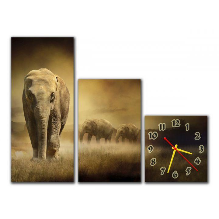 Модульные настенные часы Слон