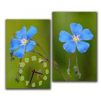 Модульные настенные часы Синий Цветок M63