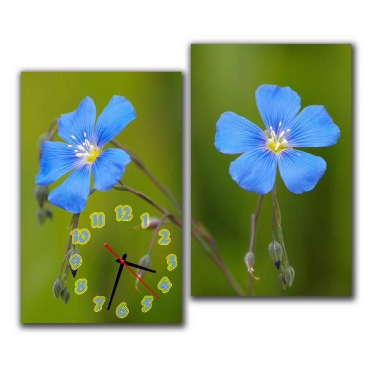 Модульний настінний годинник Синя Квітка M63