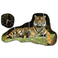 Модульные настенные часы Гордый Тигр