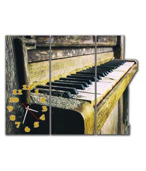 Модульные настенные часы Ретро пианино