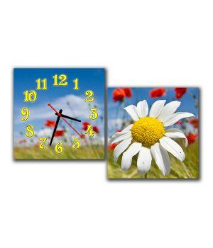 Модульные настенные часы Солнечная Ромашка