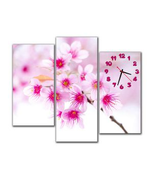 Модульные настенные часы Трепетные цветы