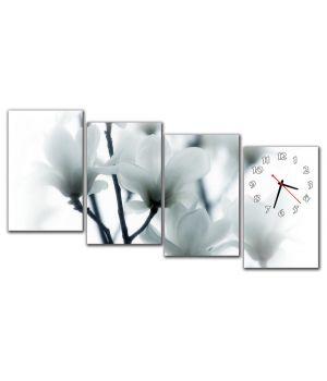 Модульные настенные часы Нежный цвет