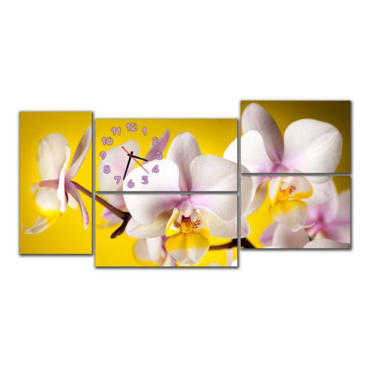 Модульные настенные часы Орхидеи