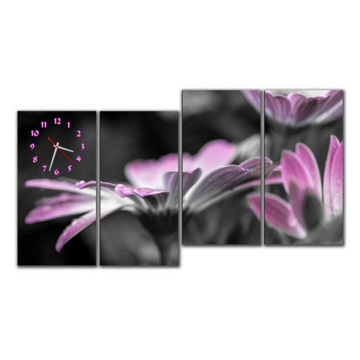 Модульные настенные часы Упоительные цветы