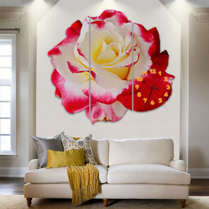 Модульные настенные часы Аромат Розы