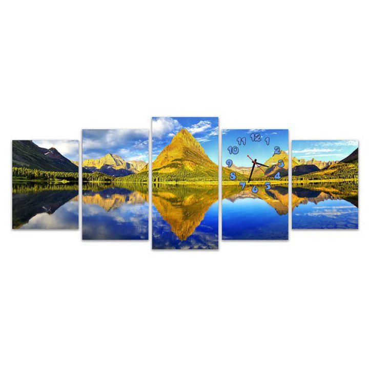 Модульные картины с часами Гармония природы