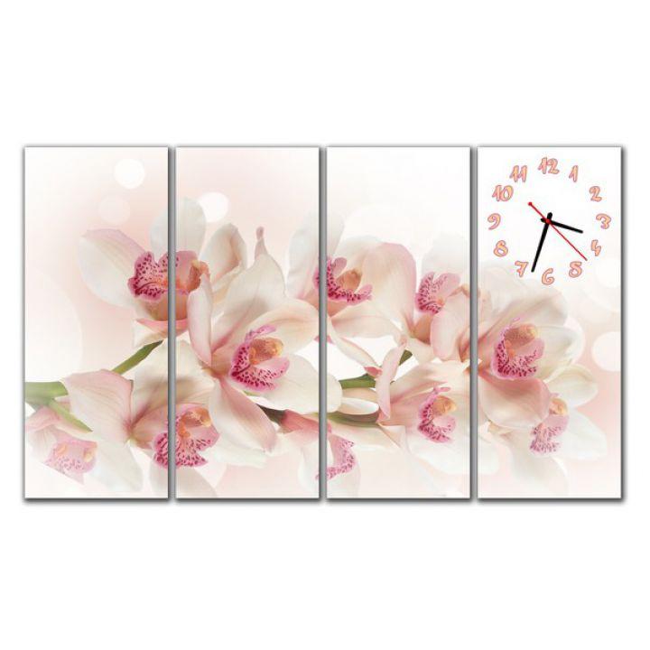 Модульные настенные часы Милые цветы