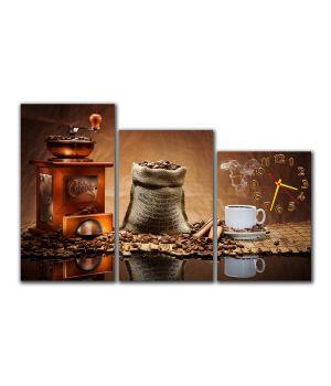 Модульные настенные часы Кофе