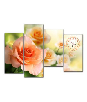 Модульний настінний годинник Неповторні троянди