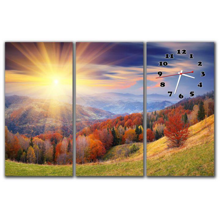 Модульний настінний годинник Сонячна панорама