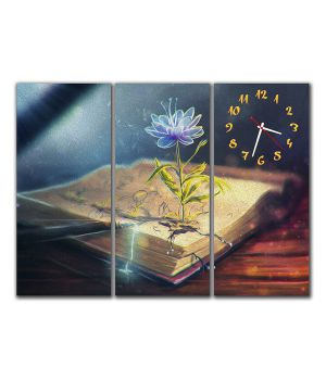 Модульные настенные часы Волшебный Цветок