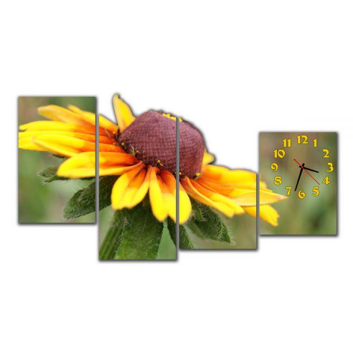 Модульные настенные часы Цветок солнца