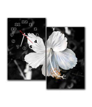 Модульные настенные часы Трепетный цветок