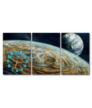 Модульные настенные часы Космос