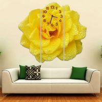 Модульные настенные часы Желтый цветок