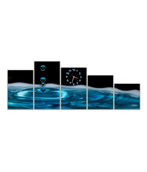Модульные настенные часы Падающая капля