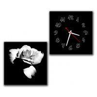 Модульные настенные часы Ретро роза