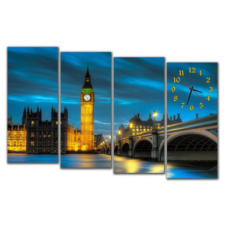 Модульний настінний годинник Лондон
