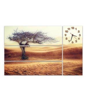 Модульные настенные часы Высохшее дерево