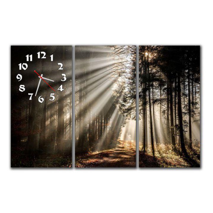 Модульные настенные часы Лесная панорама
